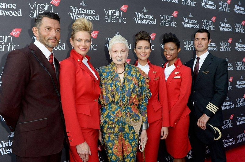 Designer Vivienne Westwood Presents Virgin Atlantic Uniforms